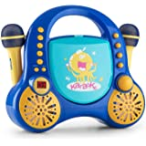 auna Rockpocket • Kinder Karaoke Anlage • Karaoke Player • Karaoke Set • 2 x dynamisches Mikrofon • CD-Player • Stereolautsprecher • programmierbar • Wiederholfunktion • Echo-Effekt • A.V.C. Funktion • optionaler Batteriebetrieb • Tragegriff • blau