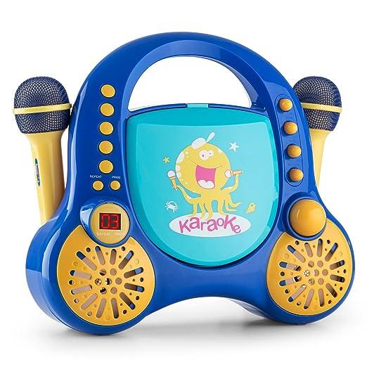 11 opinioni per auna Rockpocket Impianto Karaoke per bambini (lettore CD, 2 microfoni dinamici,