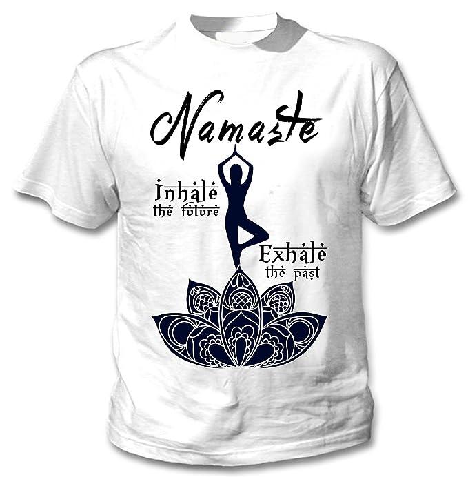 teesquare1st Yoga Namaste Camiseta Blanca para Hombre de ...