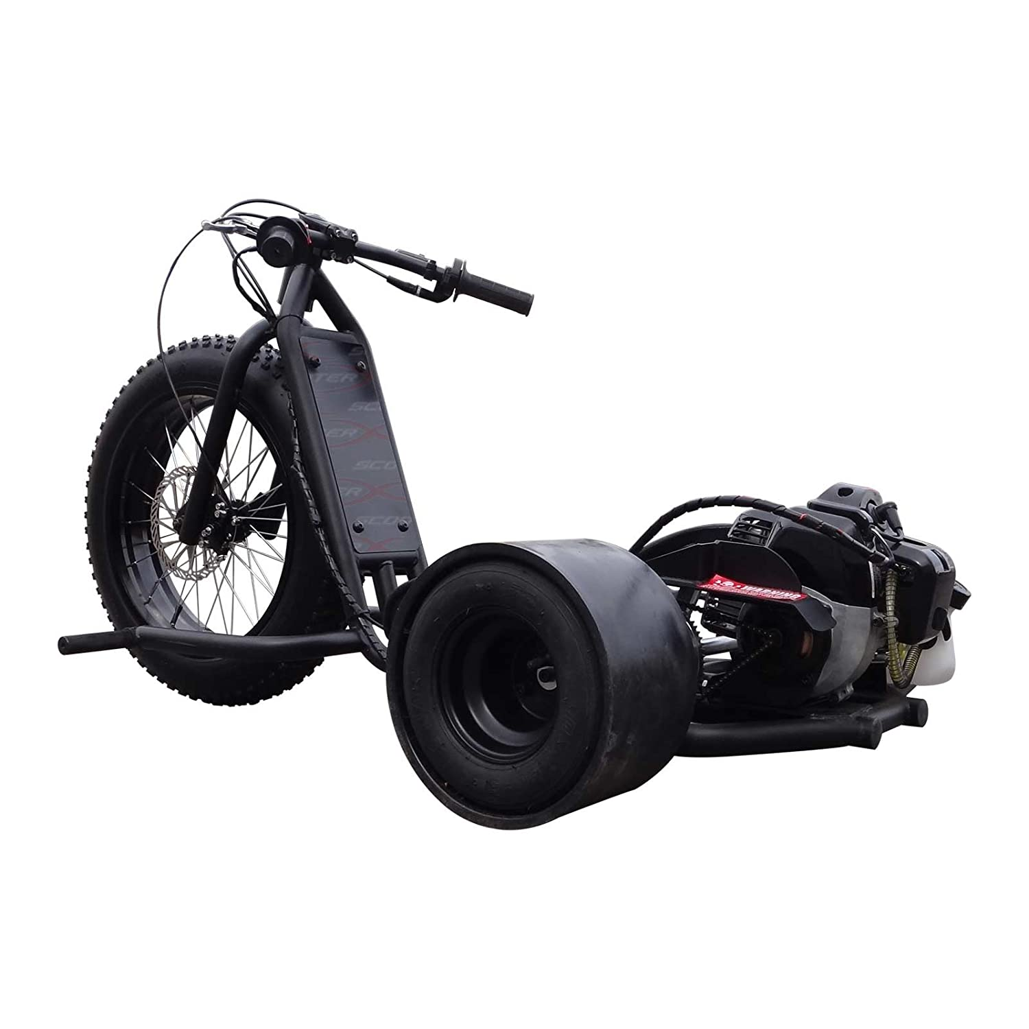 Scooter X ScooterX Drift Master 2.5hp 49cc Drift Trike Race Drifting Big Wheel Go Kart Cart 30mph! 2 tiempos acabado negro mate [534B]: Amazon.es: Coche y ...