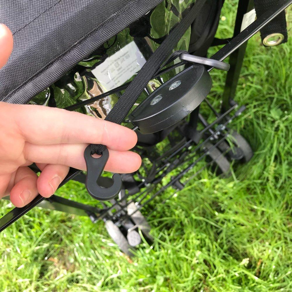 TOOGOO Pare-soleil de poussette de bebe et chariot Couvercle de pare-soleil pour accessoires des landaus et Casquette siege de voiture de Buggy de poussette Capucheпјџde protection de soleil Noir