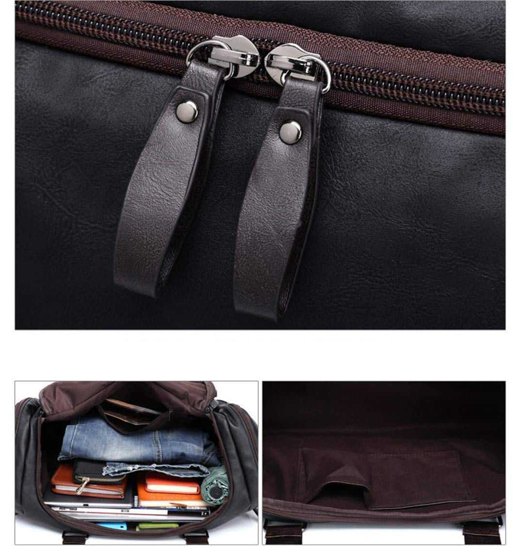 Summer Men H Travel Bags Male Business PU Leather Luggage Bag Luxury Bag Crossbody Pack Black