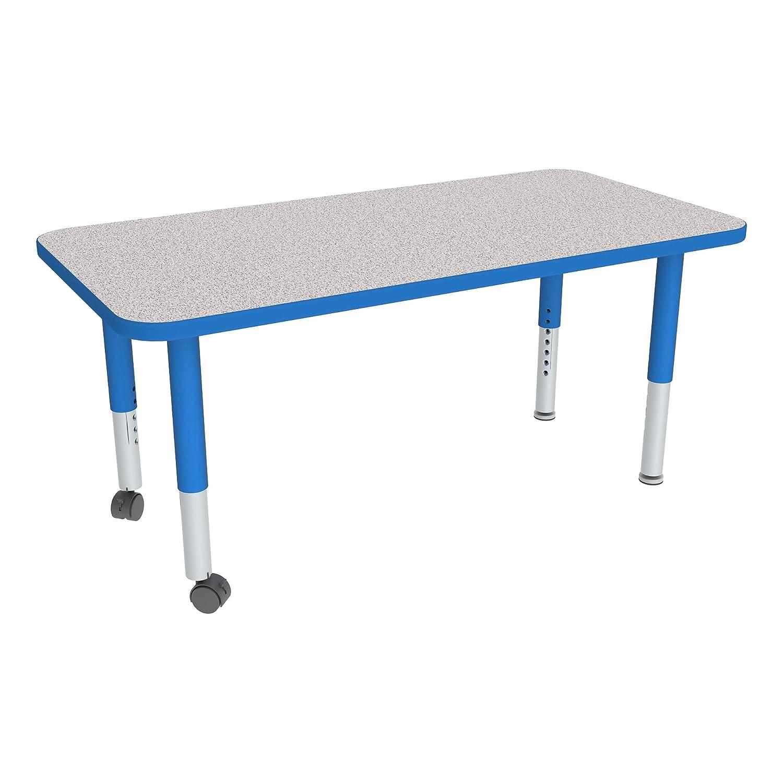 Amazon Com Rectangle Adjustable Height Mobile Preschool Activity Table 24 W X 36 L Industrial Scientific
