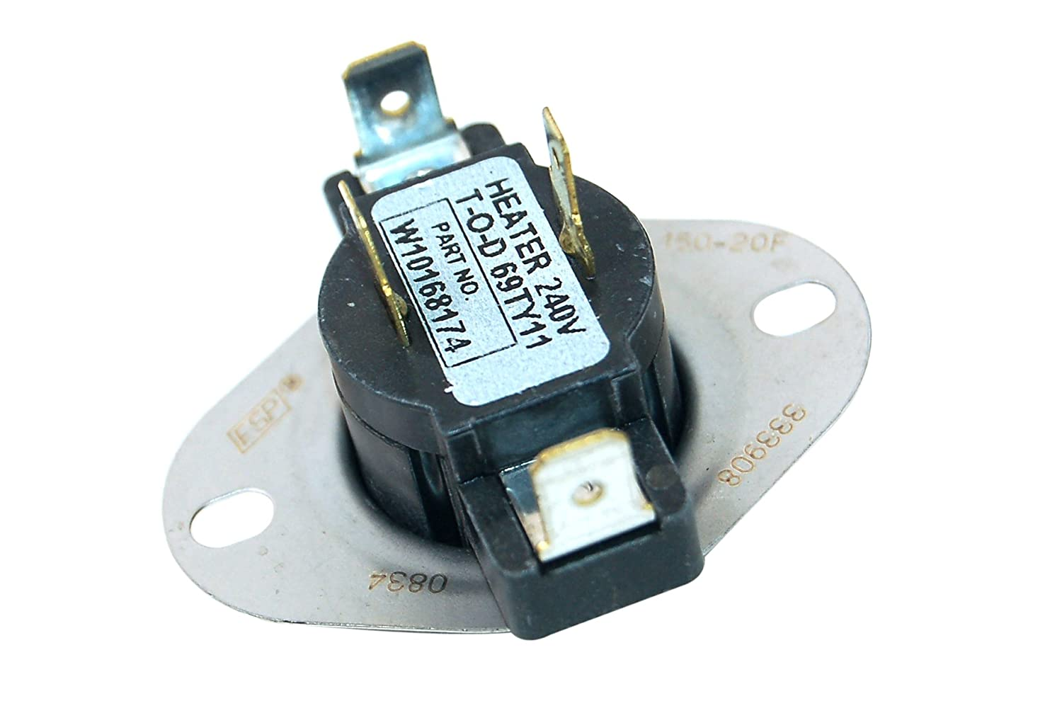 Whirlpool Tumble Dryer Thermostat. Genuine part number 480112100394 [Energy Class A+++]