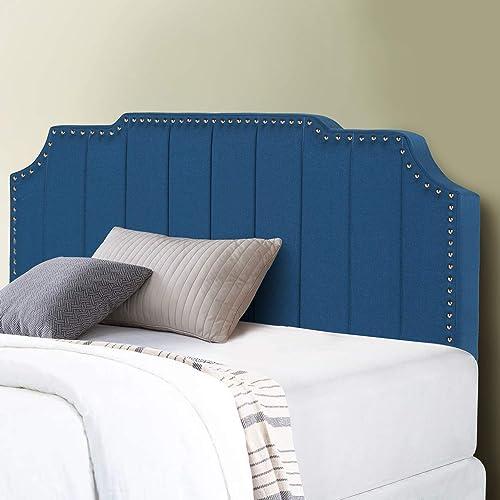 VECELO Upholstered Linen Fabric Surface,Meatl Frame/Woodboard/Inner Sponge,Headboard