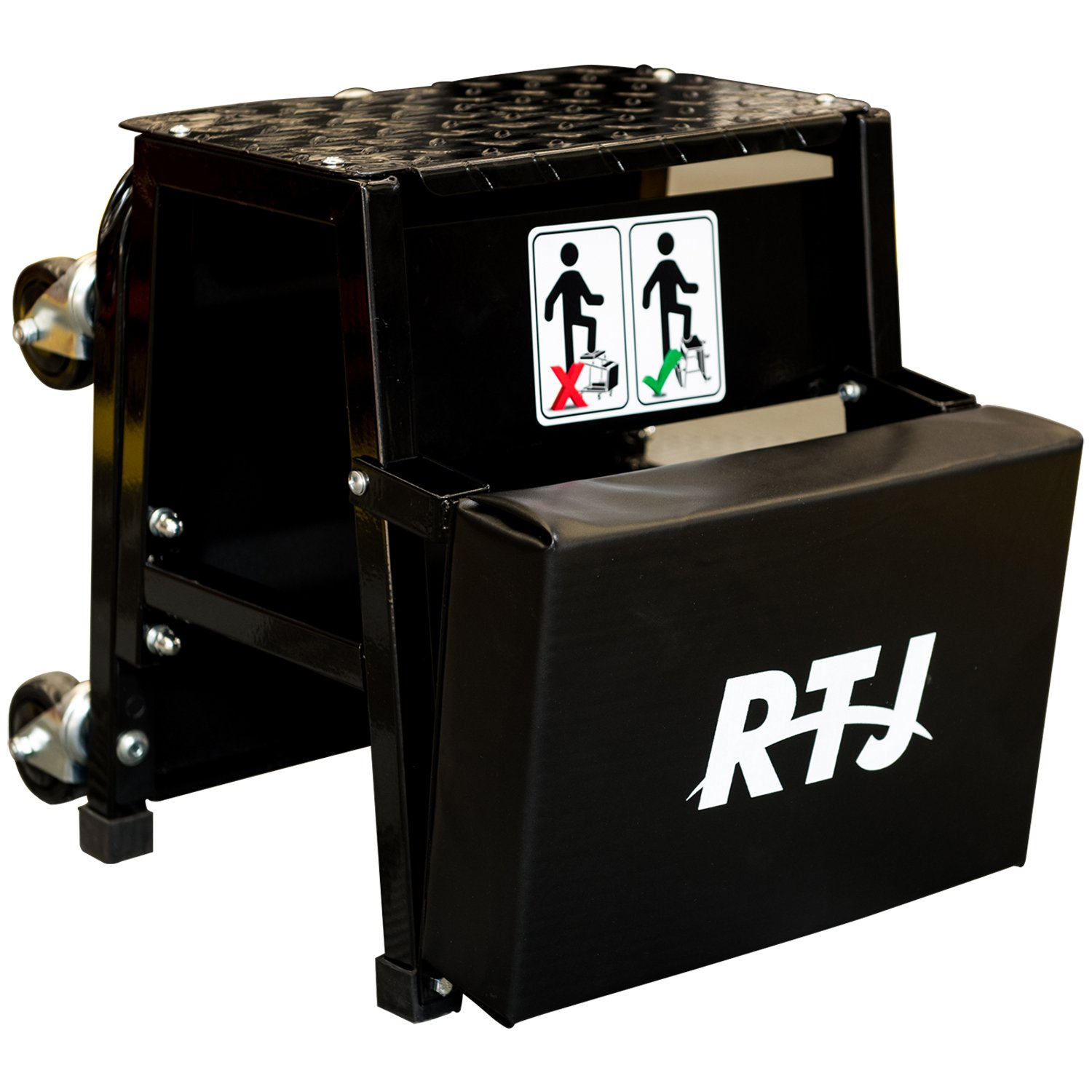 RTJ 400 lbs Capacity Mechanic Roller Seat and Stool Combo, Black by RTJ