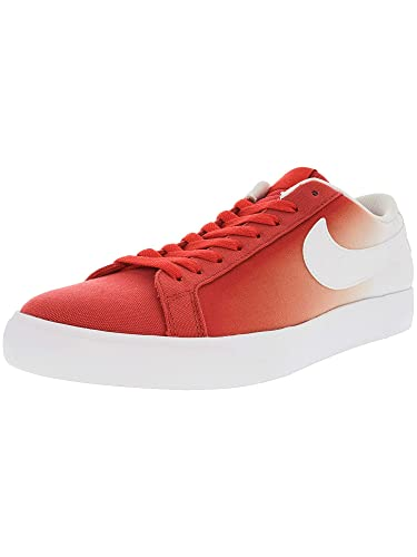 more photos 28f26 c8447 Nike Men s Sb Blazer Vapor Track Red White Ankle-High Canvas Skateboarding  Shoe -