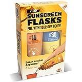 GoPong Hidden Sunscreen Alcohol Flask, 2 Count