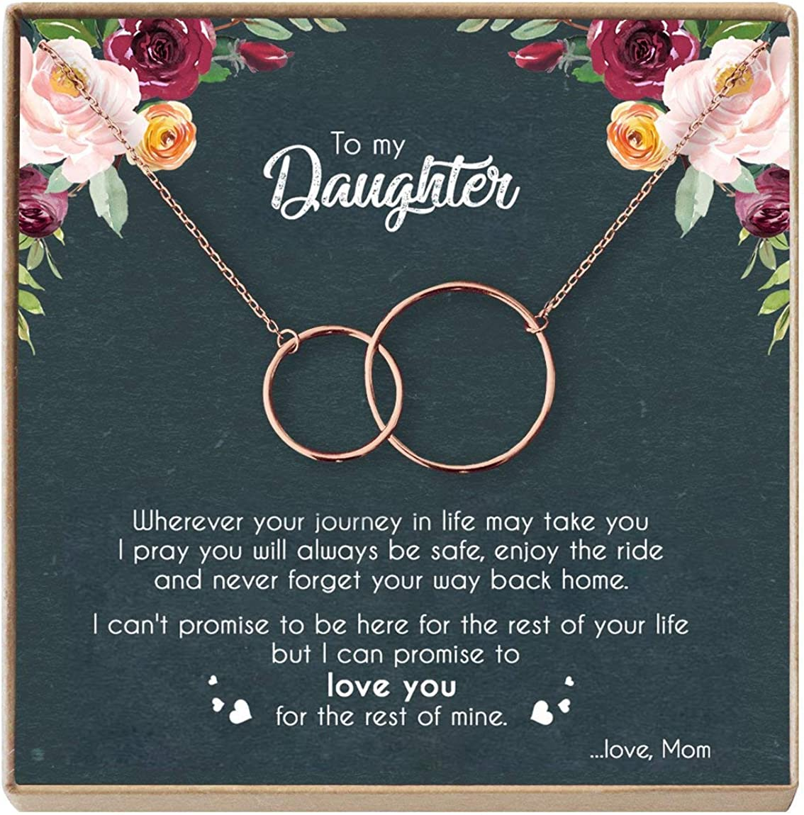 Amazon Com Mother Daughter Necklace Sterling Silver Two Interlocking Infinity Double Circles Birthday Gifts For Daughter From Mom Mom Daughter Jewelry Gift Nl Rose Gold Christmas Gift Ideas For Her Clothing