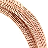 5 feet 14k Rose Gold Filled Round 24 Gauge / 0.5mm Half Hard Wire / Findings / Rose Gold