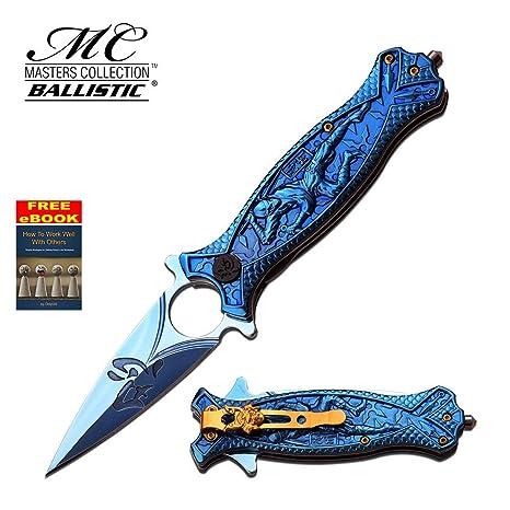 Amazon.com: Mtech Ballistic Series Ninja Blue Spring Assist ...