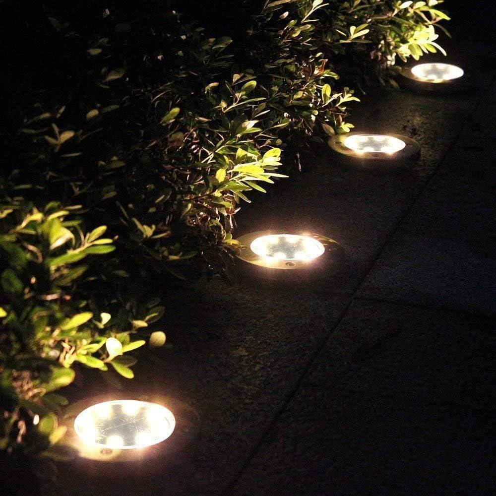 Luces Solares Led para Entrada C/ésped 8 piezas Impermeable IP65 Luces Solar de Tierra Luces Solares para Jard/ín Decoraci/ón de Camin-Blanco Fr/ío L/ámpara de Camino L/ámparas Solares Exterior Jard/ín