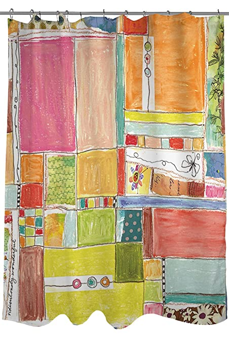 Thumbprintz Shower Curtain Patchwork Wonderful