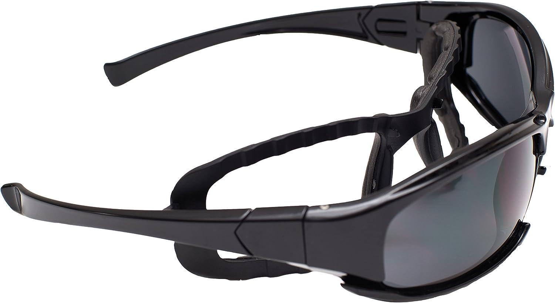 Cuenta con Lentes de policarbonato PC e Incluye: Funda de Microfibra y Banda el/ástica Eagle ARINDROYAW Indroyaw: Gafas de protecci/ón Laboral Alta Visibilidad Sport Indicadas para: Trabajo Moda
