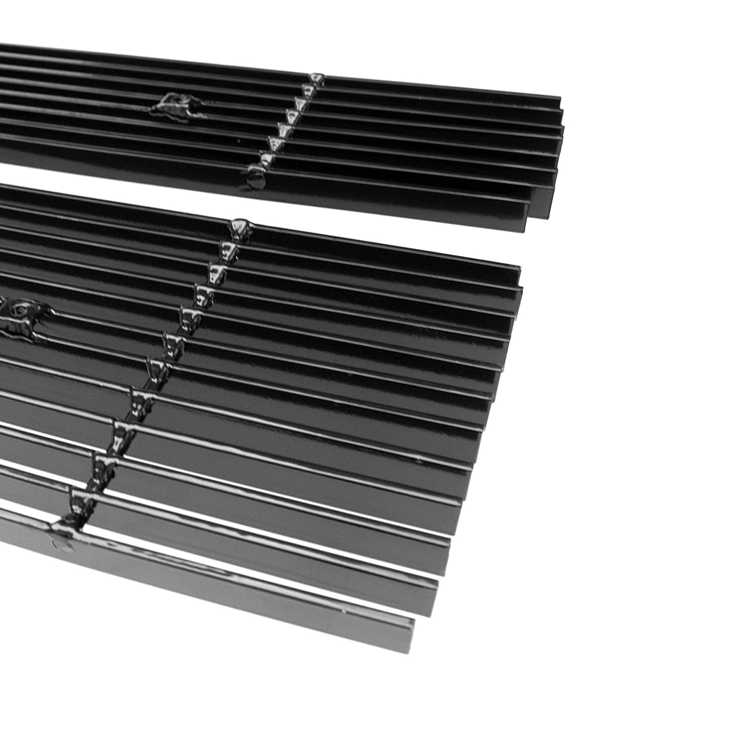 3pcs Black Billet Grille Grill COMBO Grill Insert Fits 2014-2015 Chevy Silverado 1500