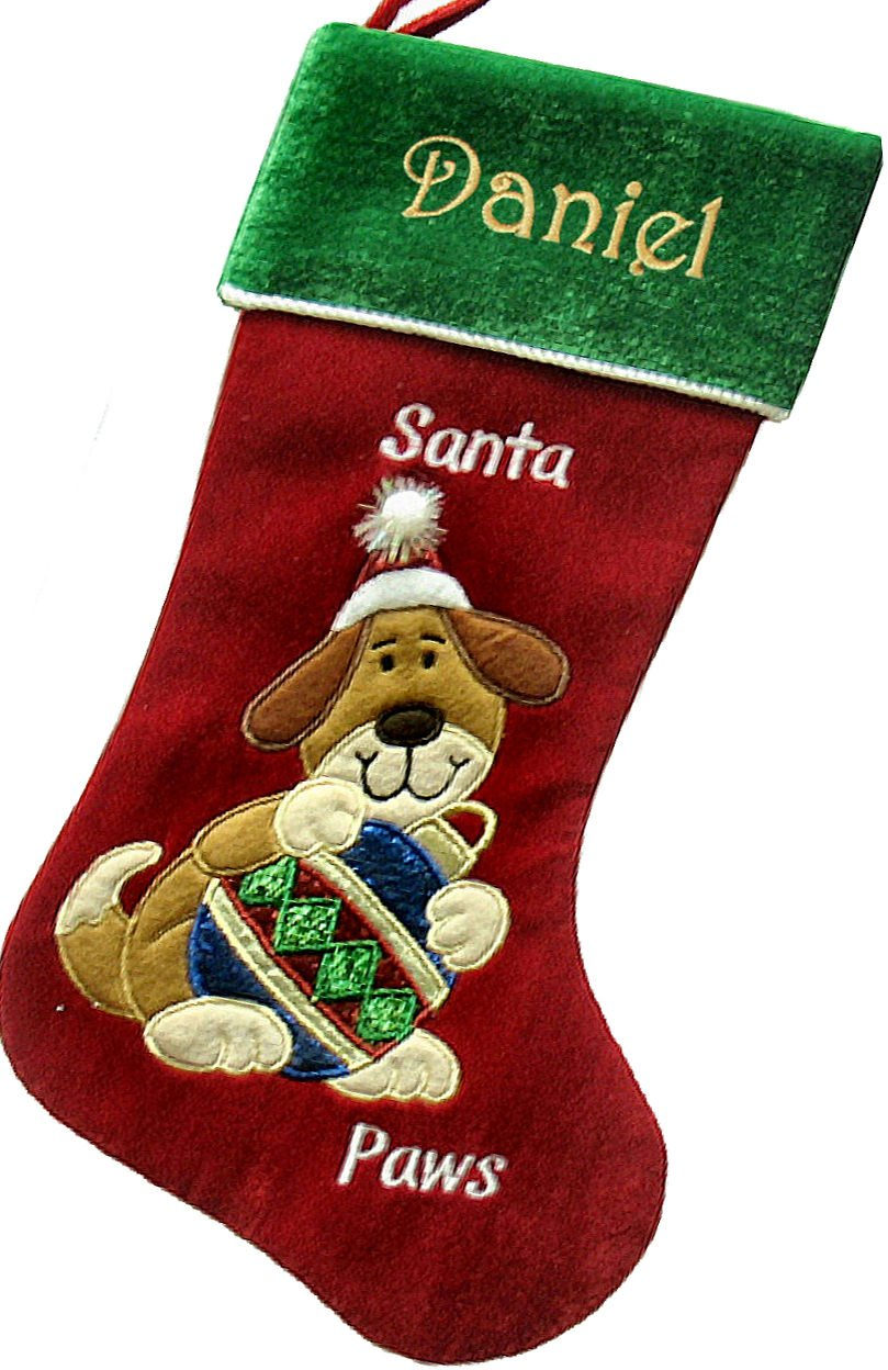 Amazon.com: Personalized Dog Christmas Stocking: Home & Kitchen