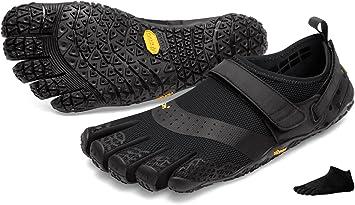 Juego de zapatillas para agua con 5 dedos V-Aqua Men de Vibram y calcetines con dedos, negro, 44: Amazon.es: Deportes y aire libre