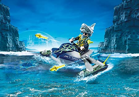PLAYMOBIL S.H.A.R.K. Rocket Rafter Agente Team Shark Nave Cohete, Multicolor (70007)
