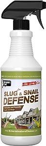 Exterminators Choice Slug and Snail Defense | 32 Ounce | Non-Toxic Slug Repellent | Quick and Easy Pest Control to Keep Snails Away