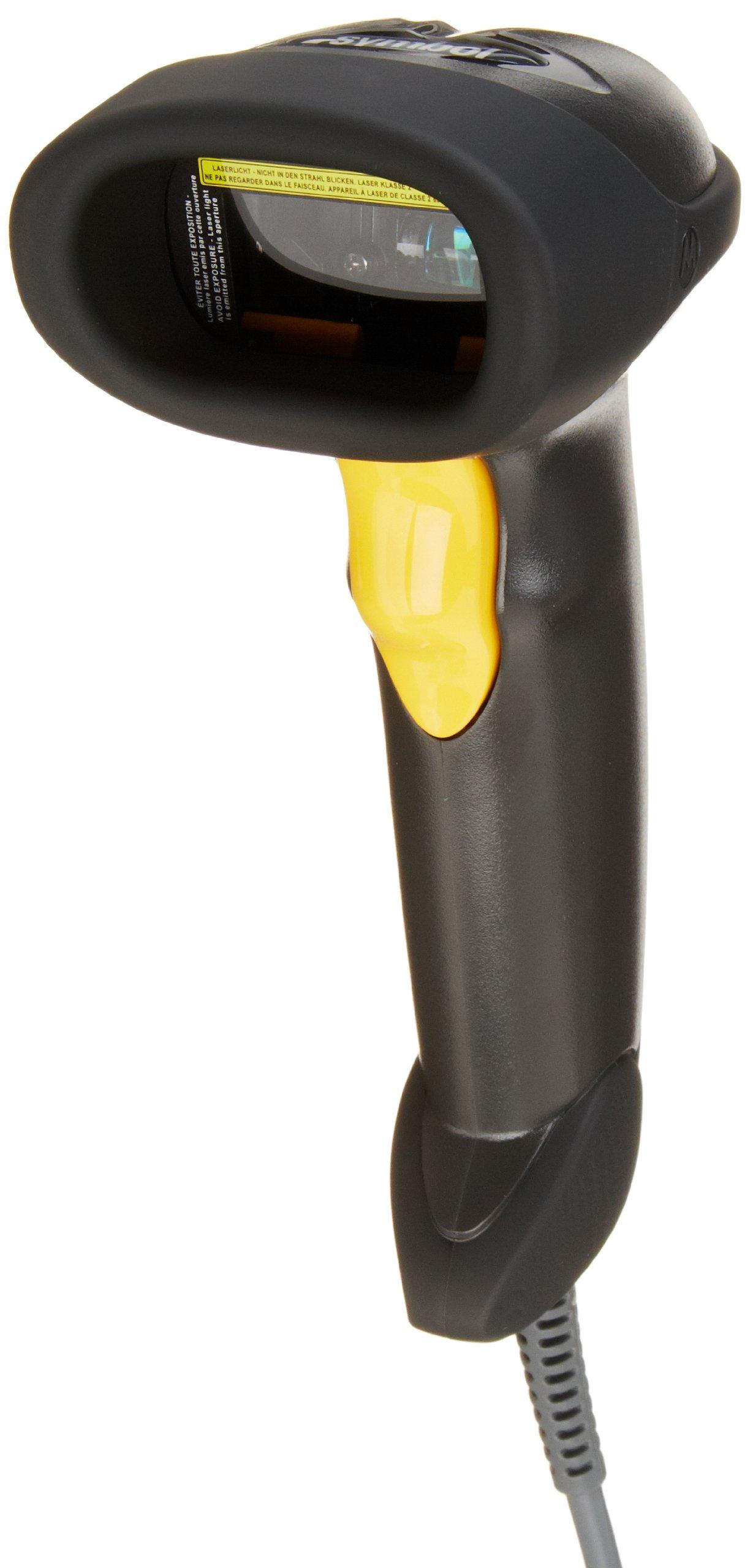 Symbol LS2208 General Purpose Handheld 1D Bi-Directional Laser Barcode Scanner, Black