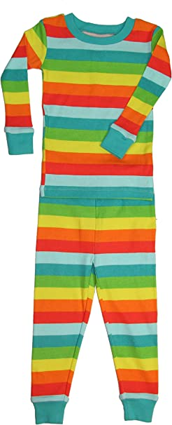 New Jammies Little Girls  Organic Snuggly Pajamas Chevron