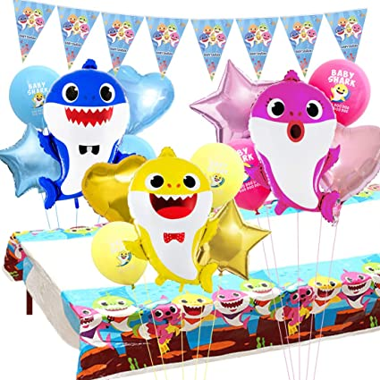 Amazon.com: Miramall Baby Shark Party Supplies Decoraciones ...