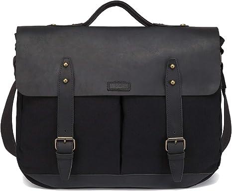 Leather Briefcase Messenger Bag 15.6 Inch Laptop Satchel Business Shoulder Bag