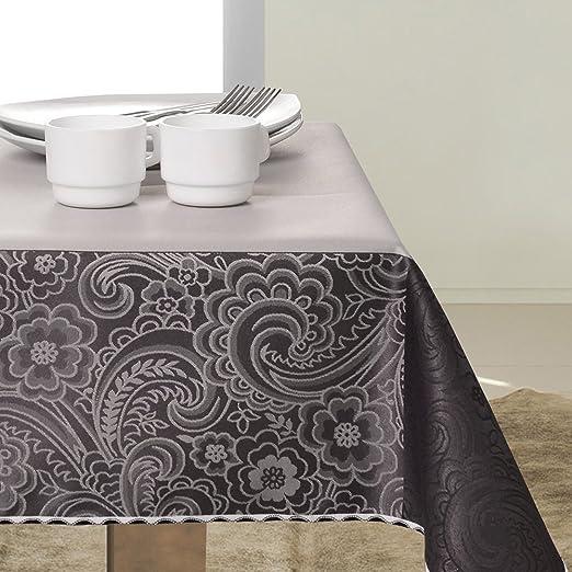 Mantel de mesa antimanchas, elegante, de color gris, negro ...