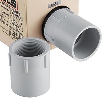 Happybuy 11 KW 220 V calentador eléctrico piscina termostato ...