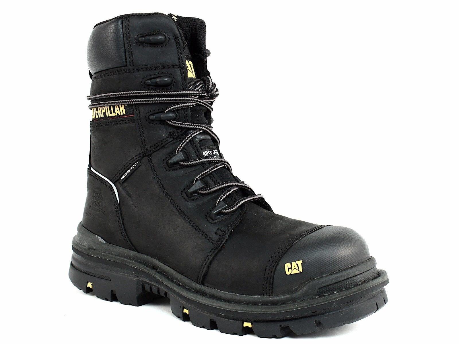 Caterpillar Men's Mortise 8'' Waterproof Work Boot Composite Toe Black 11.5 D(M) US