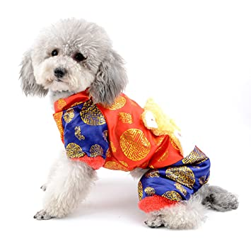 ranphy Chinese New Year Hund Overall Kostüm Traditionelle Tang ...