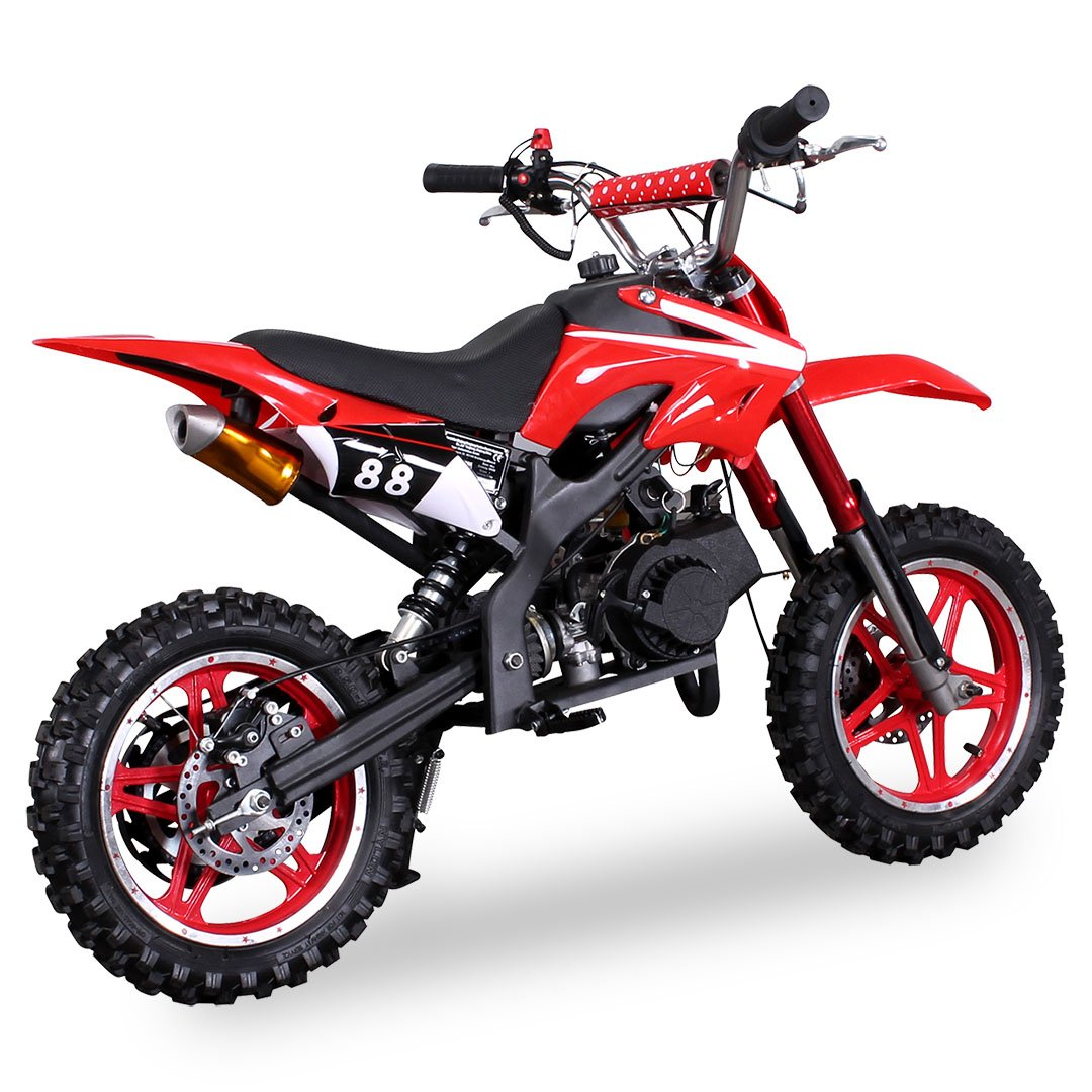 Wei/ß Kinder Mini Crossbike Delta 49 cc 2-takt Dirt Bike Dirtbike Pocket Cross