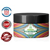 Max Potency Hemp Cream for Pain Relief - Made in USA - Pure Hemp Extract - Natural Pain Reliever - Relaxes Muscles - Anti Inflammatory - Arthritis, Fibromyalgia - 100% Risk Free Money Back Guarantee