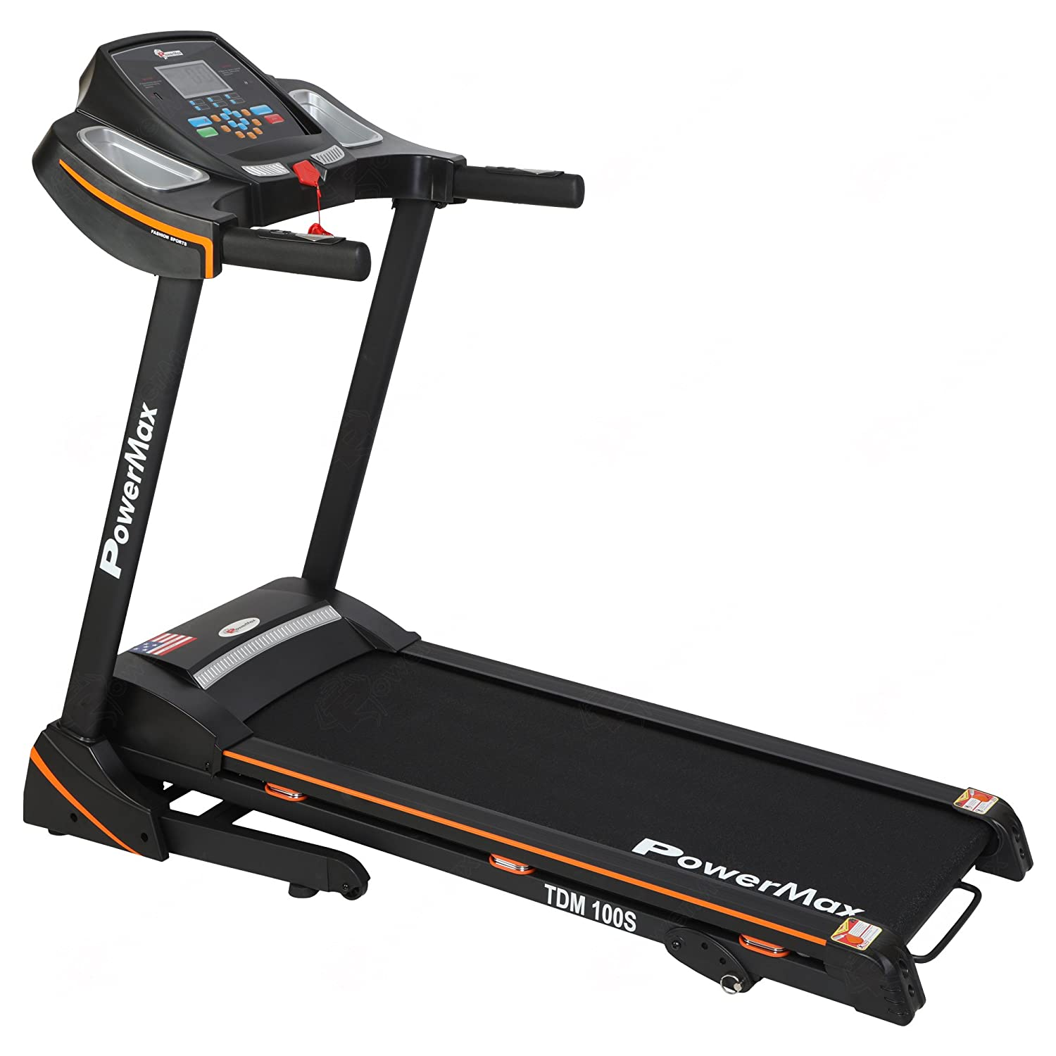 Powermax Fitness TDM-100S (2.0 HP) Motorized Treadmill With