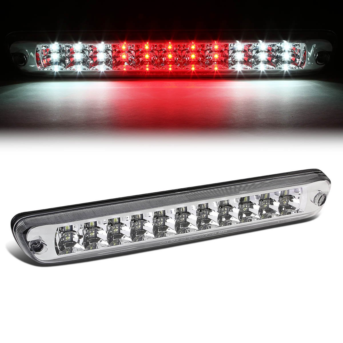 For Colorado/Canyon GMT355 High Mount Dual Row LED 3rd Brake/Cargo Light (Smoke Lens) Auto Dynasty AD-3BL-COLO04-LED-SM