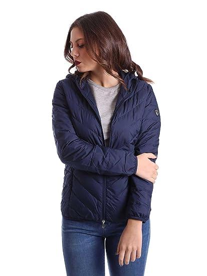 Ea7 emporio armani 8NTB28 TNE1Z Down jacket Women Blue L  Amazon.co ... aba3a0af62e