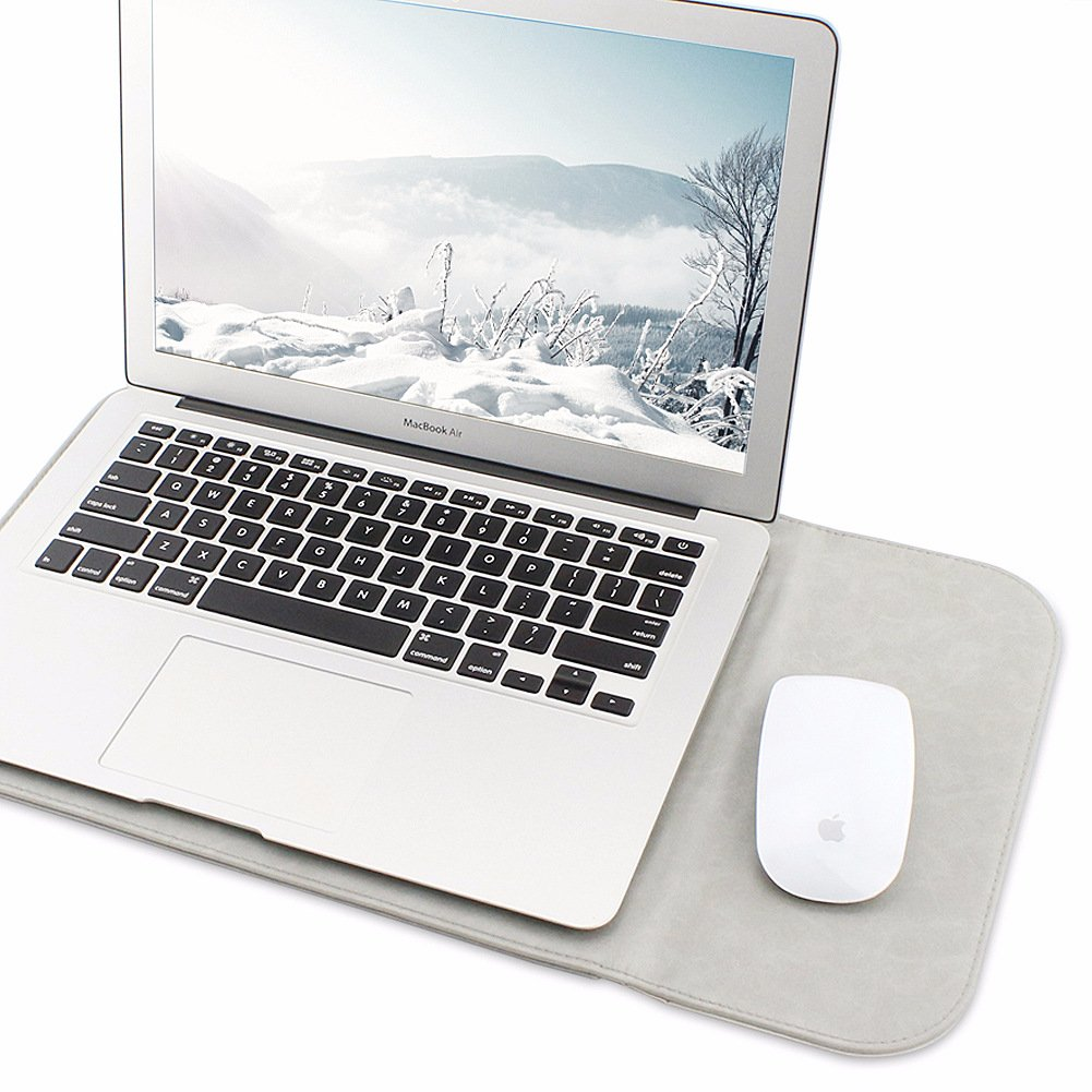 Allinside Sac en Cuir Synth/étique Marron pour Macbook Pro 15 Pouce avec sans Retina Macbook Pro 15 Pouce avec Touch Bar