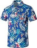 APTRO(アプトロ) アロハシャツ 半袖シャツ メンズ オシャレ メンズシャツ フローラル ワイシャツ プリントシャツ ハワイ風 花柄シャツ 通気速乾 UV対策