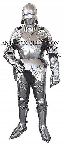 Amazon.com: Traje gótico de armadura medieval disfraz de ...