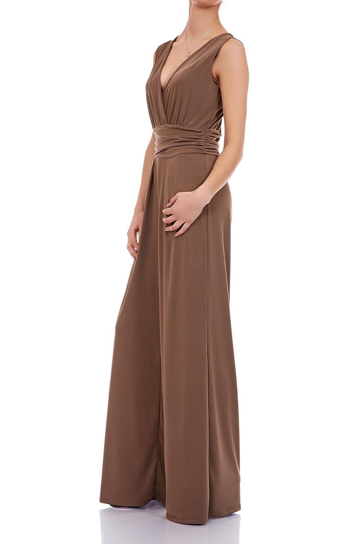a4d28d4cd16fd9 Laeticia Dreams Eleganter Damen Overall Jumpsuit V Ausschnitt S M L XL:  Amazon.de: Bekleidung