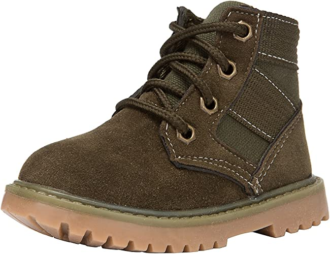 KIDS GIRLS BOYS LACE UP ANKLE BOOTS TRAINERS ARMY COMBAT WINTER WARM SHOES SIZE