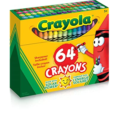 CRAYOLA Crayon/Sharpener, 64 Count (52-0064): Toys & Games