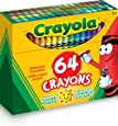 Crayola Crayon Box with Sharpener, 64 Colours, Gift, Colouring, Drawing, Christmas, Non Toxic