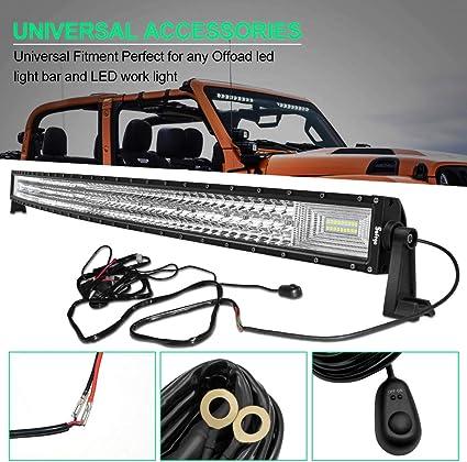 CLEAR LENS ROOF TOP OFFROAD FOG LIGHT POD BAR W HARNESS FOR TRUCK//SUV UTV ATV