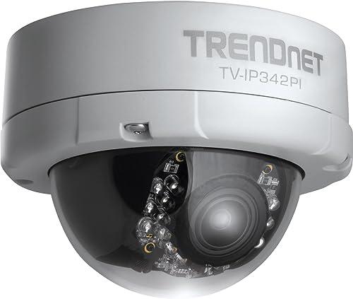 TRENDnet Indoor Outdoor Dome Style,Vari-Focal PoE IP Camera