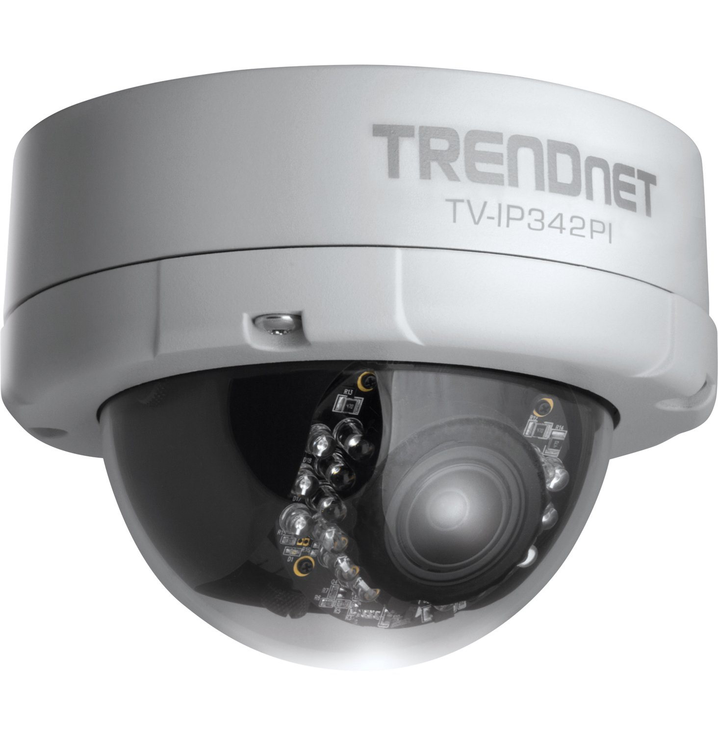 TRENDnet Indoor/Outdoor Dome Style,Vari-Focal PoE IP Camera, 2 Megapixel 1080p Full HD Resolution, 3x Optical Zoom, IP66 Weather Rated Housing, 50 ft. Night Vision, Micro SD Card slot, Digital WDR, Secu, Free TRENDnet App for Android, and IOS, ONVIF, IPv6