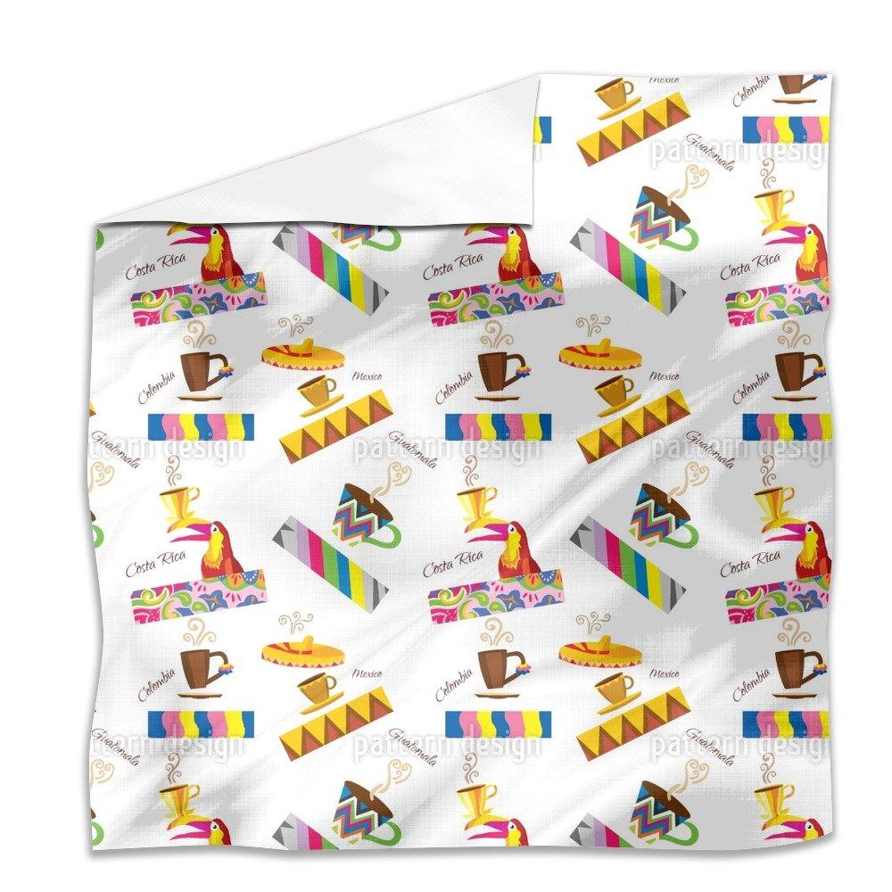 Coffee Origins Flat Sheet: King Luxury Microfiber, Soft, Breathable
