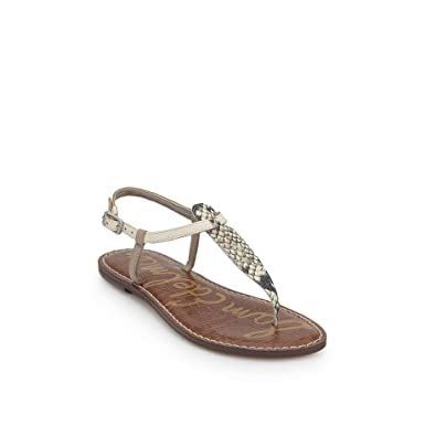 d2623f34e1310 Sam Edelman Women s Thong Sandals Green Snake Multicolour Size  3 3.5 UK