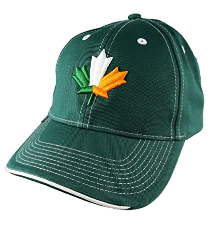 a6366c8d1dc8f St-Patrick s Irish Flag Maple Leaf 3D Puff Embroidery on an ...