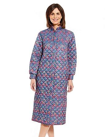Robe De Chambre Matelassée Pour Femme Bleu Uk 10 12 Eu 38